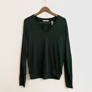 Wilfred Free Green V Neck Sweater